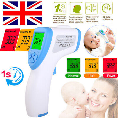 Thermometer Infrared Forehead Non-touch Digital LCD Baby Adult Temperature Gun