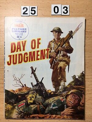 """Fleetway War Picture Library Comic # 338 from 1966. """"Day of Judgement"""" VG Cond."""