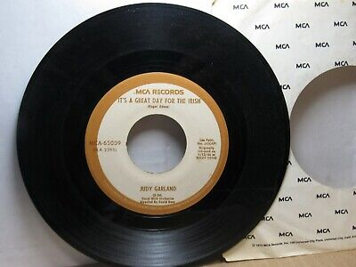 Old 45 RPM Record - MCA MCA-65009 - Judy Garland -It's a Great Day For the Irish