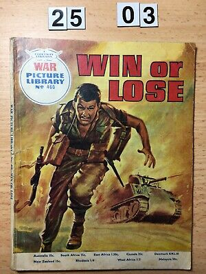 """Fleetway War Picture Library Comic # 460 from 1967. """"Win or Lose"""" Good Cond."""