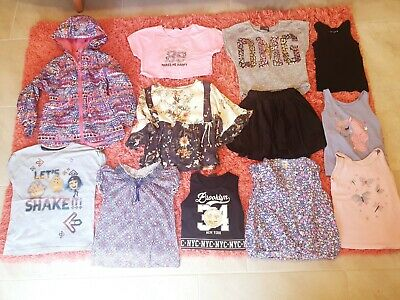 Girl's NEXT, TU, George, Oshkosh, Nutmeg Summer Clothes Bundle Age 7 - 8 Years