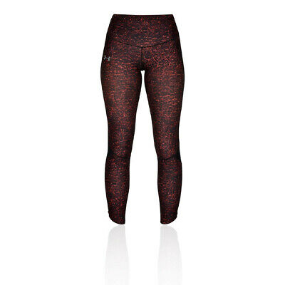 Under Armour Womens Fly Fast Printed Running Tights Bottoms Pants Trousers Red