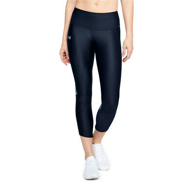 Under Armour Womens Fly Fast Cropped Running Tights Bottoms Pants Trousers Black