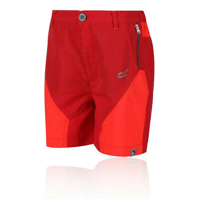 Regatta Boys Sorcer Mountain Shorts Pants Trousers Bottoms - Red Sports Outdoors