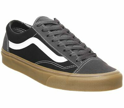 Vans Style 36 Trainers Obsidian Black Gum Trainers Shoes