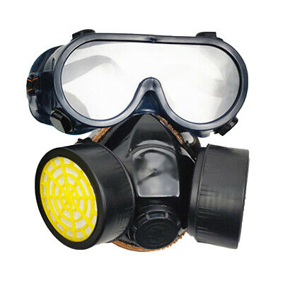 Emergency Respirator Mask Chemical Gas Mask with Goggles Dual Protection Welcome