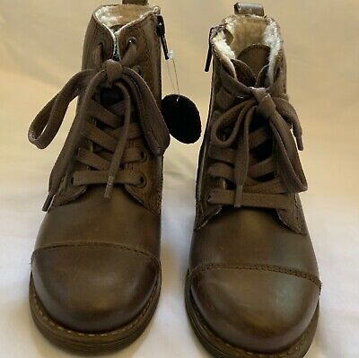 New Marks And Spencer Girls Leather Uppers Boots Size Uk 11 Kids Eur 29