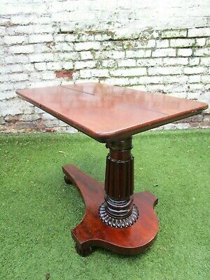 Victorian  Mahogany Adjustable Reading Table / Duet  Music Table Bed c1850