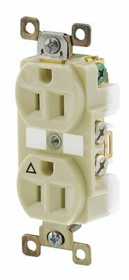BRYANT 15A Harsh and Heavy Use Industrial Isolated Ground Receptacle, Ivory; ...
