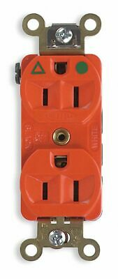 HUBBELL WIRING DEVICE-KELLEMS 20A Industrial Isolated Ground Receptacle, Ivor...