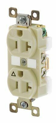 BRYANT 20A Harsh and Heavy Use Industrial Receptacle, Ivory; Tamper Resistant...