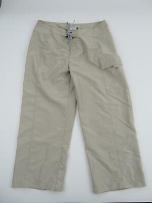 The North Face Women's Cargo Hiking Capris Pants 8 28 Cropped Beige Travel EUC