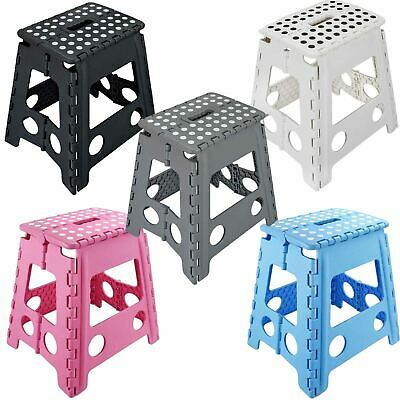 New Multi Purpose Fold Away Stable Large Folding Plastic Home Garage Stool