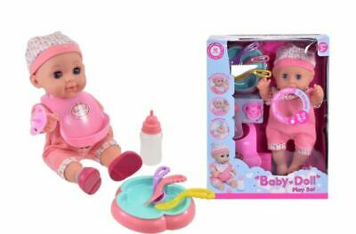 """Drink & Wet Baby Doll 12"""" With Sound & Accessories"""