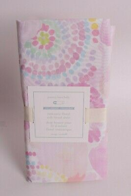 NWT Pottery Barn Kids Romantic Floral crib fitted sheet, pink