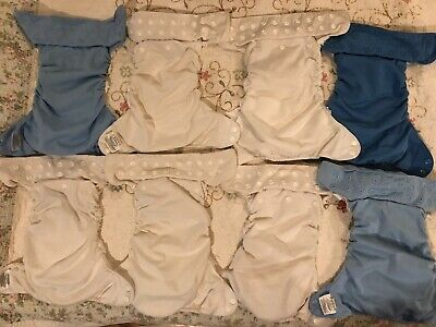 Lot Of 8 Bum Genius All In One Diapers, Torn But Ready For Reenlistment