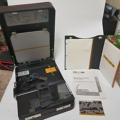 Vintage Eyecom 21001 Portable Microfiche Reader Suitcase Viewer Tested Working