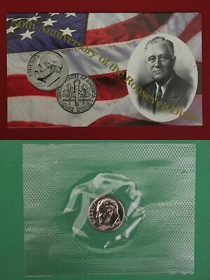 1996 W Roosevelt Dime In Mint Cello WITH COA  FREE SHIPPING!!