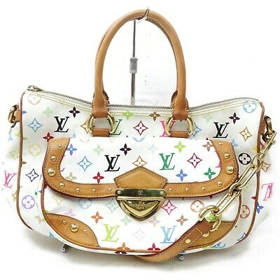 Louis Vuitton Tote Bag Rita M40125 Whites Monogram Multicolor 1122614