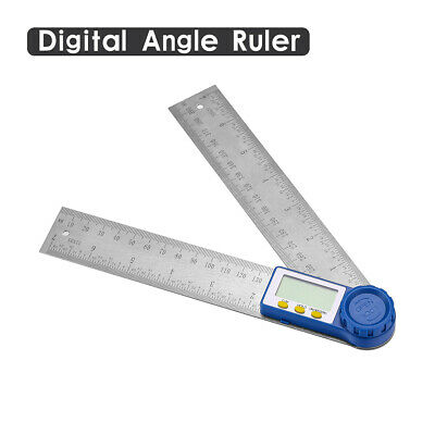 """8"""" Electronic Digital Angle Finder Protractor Ruler Stainless LCD With batteries"""