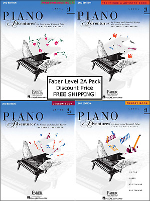 Faber Piano Adventures Level 2A - Pack Set (Lesson/Theory/Perf/Technique) NICE !