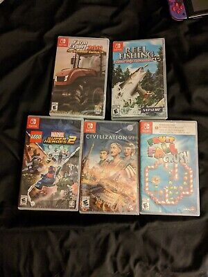 Nintendo Switch Games Lot 5 sealed Games family and kids games