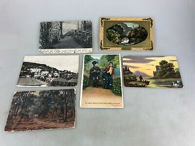 Vintage - Postcards - Sent To South Australia - Lot Of 6