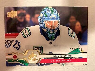 2019-20 Upper Deck Series 2 UD Exclusives #419 Jacob Markstrom 74/100