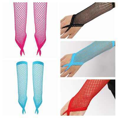 Fishnet Gloves Elbow Length Fingerless Womens Sexy Party Nightwear Mesh Mittens
