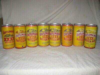 XXXX Bitter Ale beer cans 8 cans