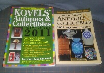 Lot of 2 2011 Antiques And Collectibles Price Guide Kovels Antique Trader