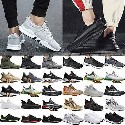 Mens Trainers Sport Shoes Fitness Gym Running Shoes Mesh Casual Sneaker Size