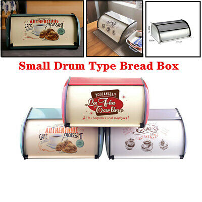Metal Bread Bin Box Kitchen Pastry Food Storage Loaf Vintage Home Container Box