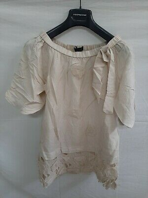 Twin set simona barbieri lino skirt maglietta donna woman t-shirt tg S shirt