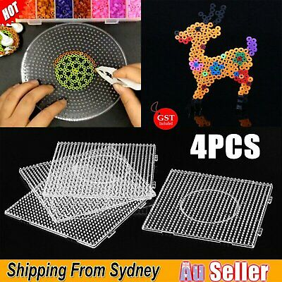 4X Large Square Pegboards for perler bead Hama Fuse Beads Clear Design Board AU
