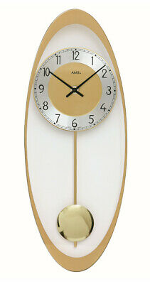 Modern wall clock with quartz movement from AMS AM W7417 NEW