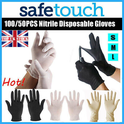 50/100x Transparent Disposable Gloves Medical Latex Rubber Anti Pollution CE