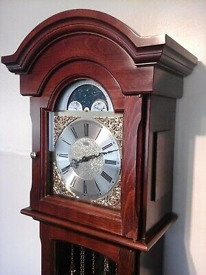 Quality Kieninger Moon Phase Longcase Clock 8 Bar Chimes Was £1500+ When New