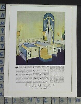 1923 Home Decor Bedroom Simmons Beds Mattress Spring Sleep Vintage Ad Cp69