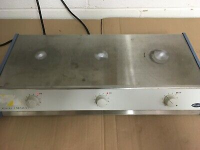 Stuart 3 Place Magnetic Stirrer Sb161-3 Stainless Steel