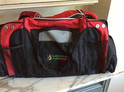 Red Duffle Travel Bag Multi pocket Canvas Large Carry on