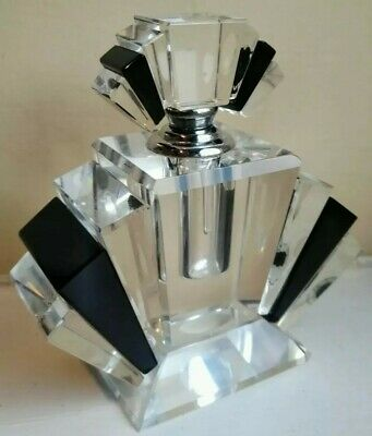 VINTAGE ART DECO Styling Crystal hand cut glass Perfume