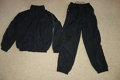 boys girls unisex tracksuit jogging PE kit suit black age 11 12 13 Slazenger