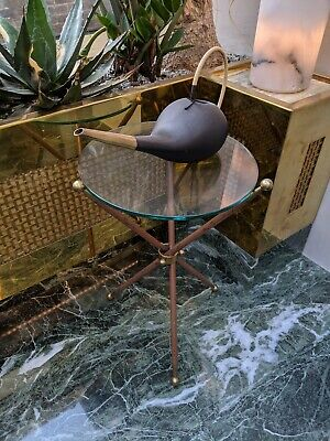 Vintage mid-century Italian glass side / occasional table