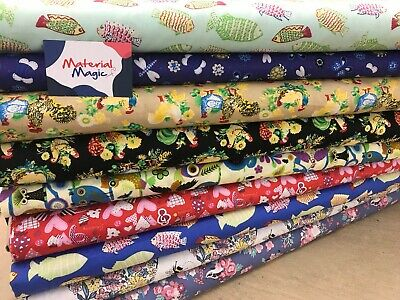 DESIGNER 100% cotton fabric for NHS face mask, scrubs, hats bandanas