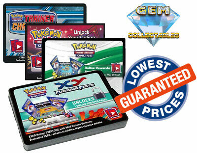 Pokemon Codes TCGO Boosters Sword and Shield SM XY BW Deck Online TCG Code Cards