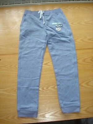 1 X Girl's Blue Joggers Trousers Age 7-8 George Used
