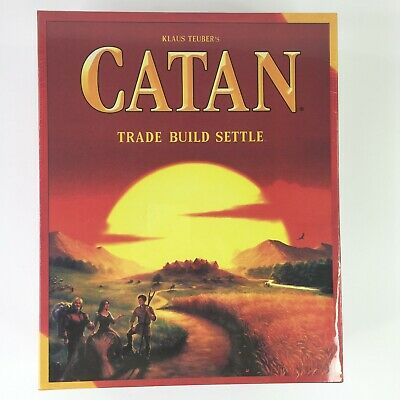 Klaus Teubers Catan Board Game Trade Build Settle Ages 6+ 3-4 Players Brand New