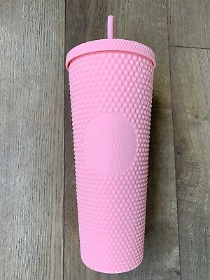Starbucks Spring Collection 2020 Matte Pink Studded Tumbler 24oz IN HAND