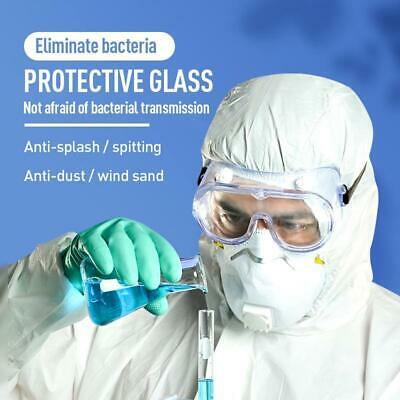 Fully Enclosed Splashproof Safety Goggles Lab Work Eye Protection Glasses